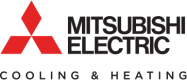 mitsubishi logo extreme comfort air conditioning and heating
