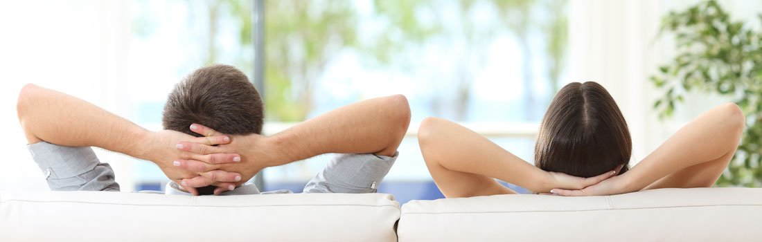 extreme comfort air conditioning and heating relaxing couple