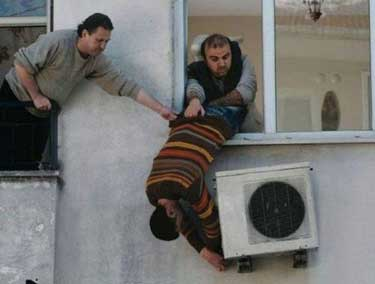 three men voiding their air conditioning unit warranty