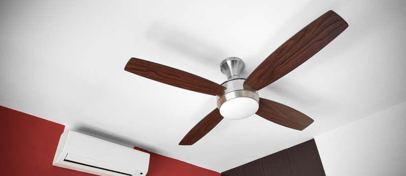 dusty ceiling fan maintenance tip from Extreme Comfort Air Conditioning and Heating