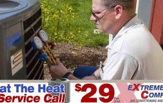 AC service call, AC repair, HVAC repair, Air Conditioning Repair