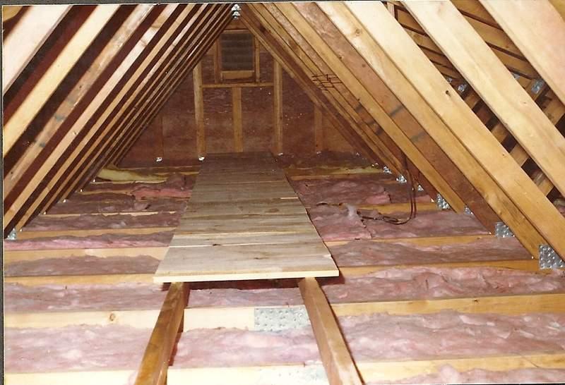 attic insulation inspection