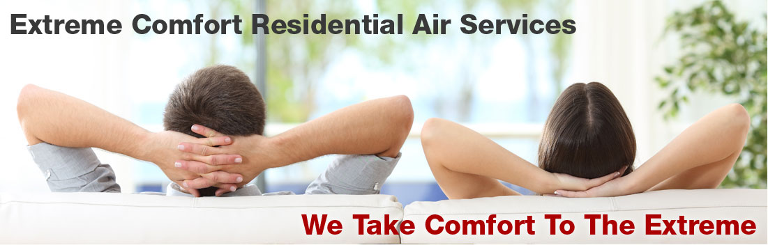 Couple relaxing in comfortable home with Air Conditioning system installed and serviced by Extreme Comfort Air Conditioning & Heating in Carrollton Texas